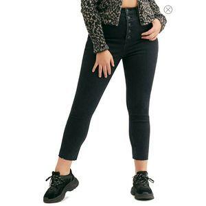 Free People Black Crvy Mardi HighRise Skinny Jeans